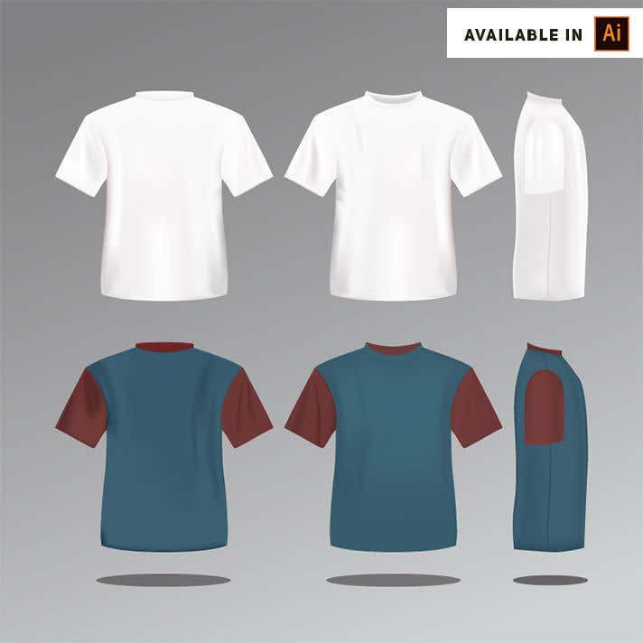 Contest Entry #8 for I need a realistic jersey template for sports shirts