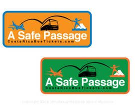 #12 untuk Logo Design for A Safe Passage - CostaRicaBusTickets.com oleh justwoomass