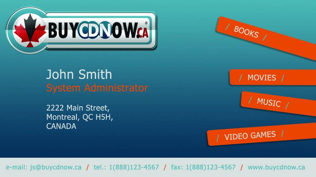Конкурсная заявка №21 для Business Card Design for BUYCDNOW.CA