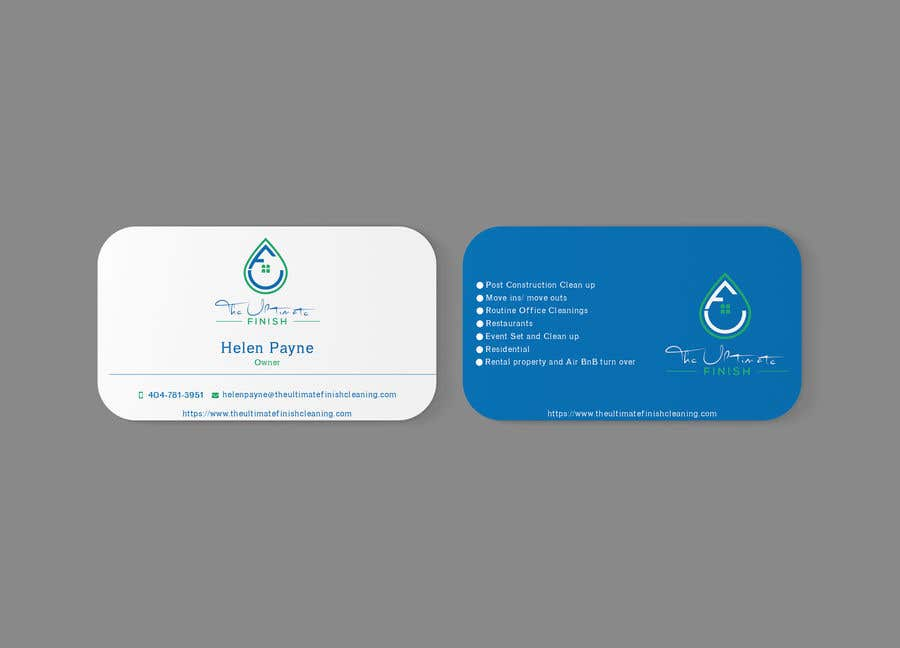 Entry 25 By Rumon078 For Design Some Business Cards Cleaning