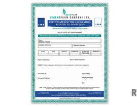 ryomboxstudio tarafından Design a certificate for inspection calibration için no 10