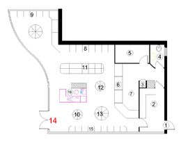 #14 για To Make interior furniture layout for mini market από mga5944989a58f4e