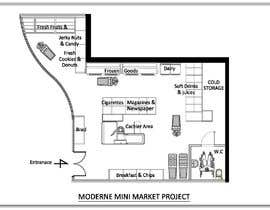 #6 για To Make interior furniture layout for mini market από HadjerCher