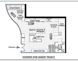 #7 για To Make interior furniture layout for mini market από HadjerCher