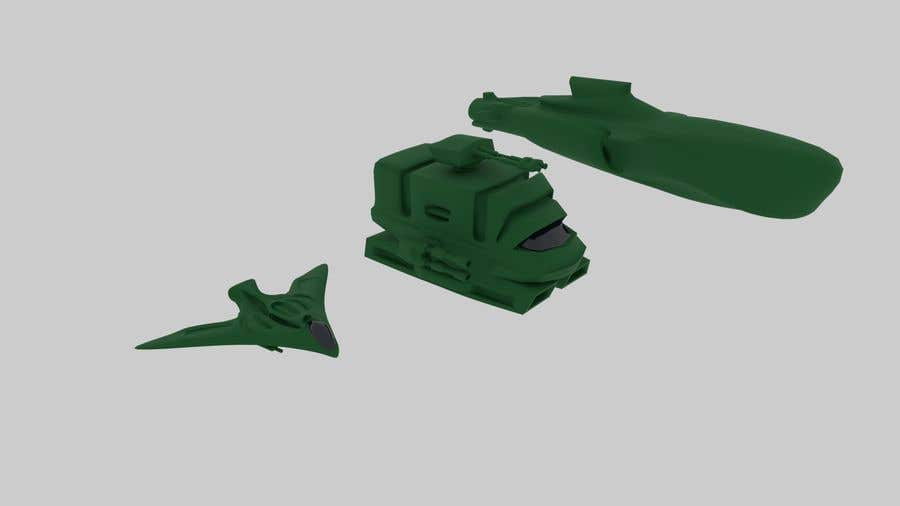 Contest Entry #38 for 3D Modeling Land, Air, Sea forces for 3D printer board game