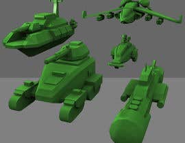 nº 26 pour 3D Modeling Land, Air, Sea forces for 3D printer board game par sechavia
