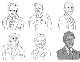 #5 for sketch drawing or Illustration of Donald Trump, Mitt Romney, Kim Jong Un, Hillary Clinton, Bill Clinton and Barack Obama by jonaskupe