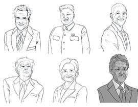 #5 untuk sketch drawing or Illustration of Donald Trump, Mitt Romney, Kim Jong Un, Hillary Clinton, Bill Clinton and Barack Obama oleh jonaskupe