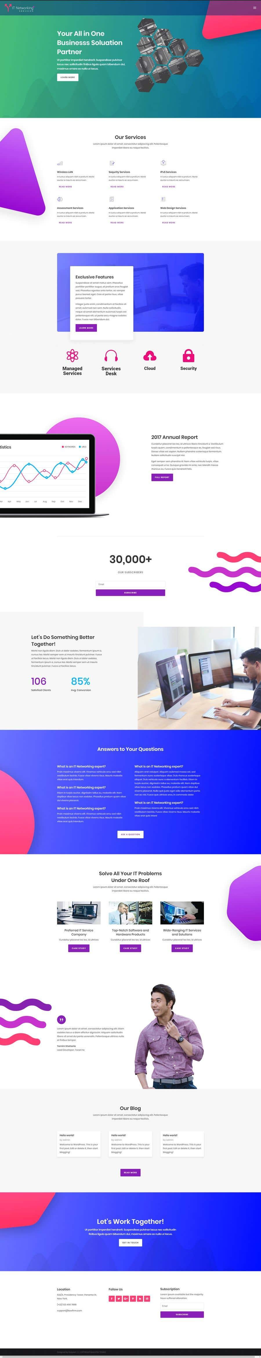 Kilpailutyö #10 kilpailussa Build a wordpress theme for my company
