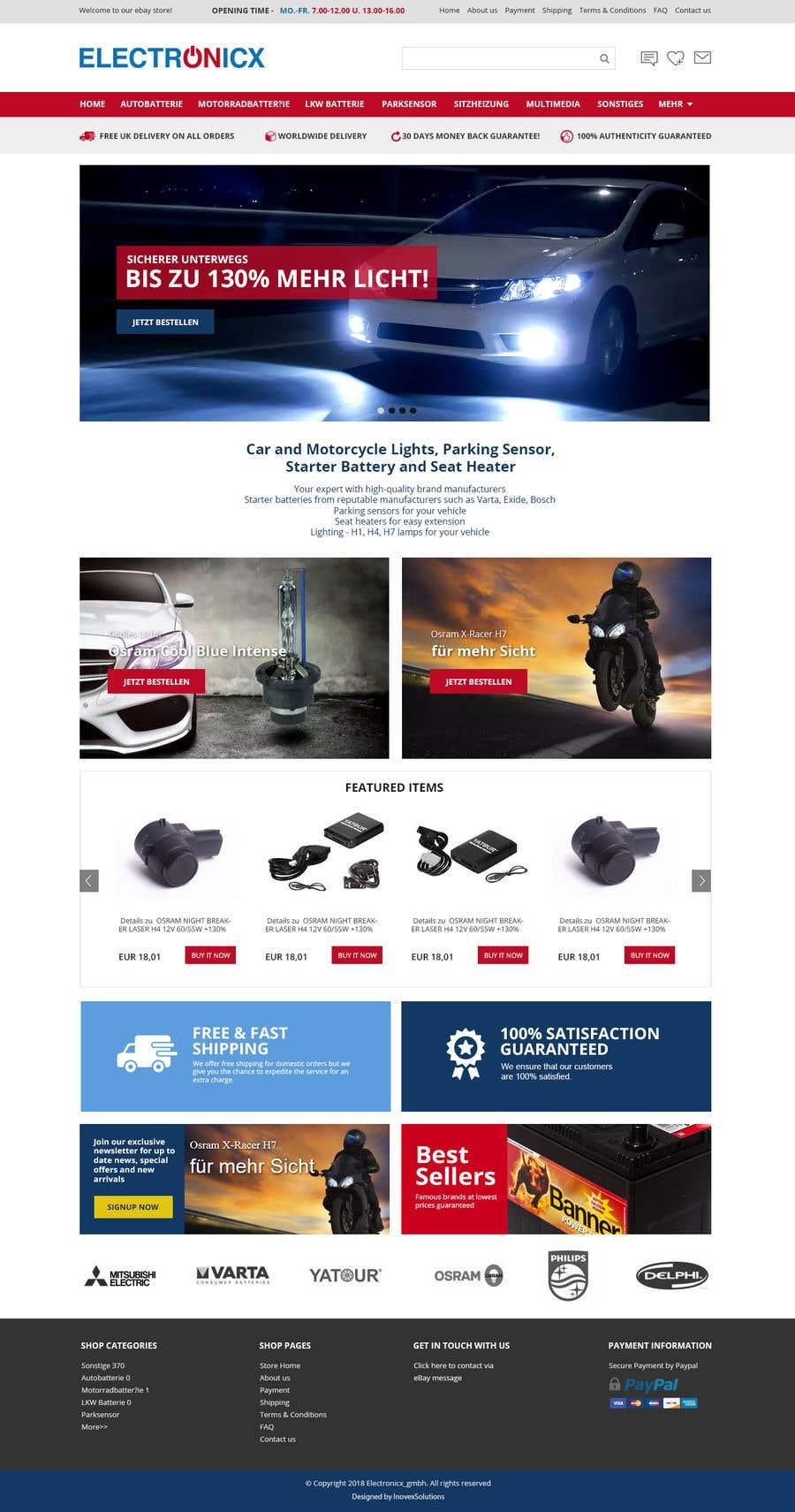 Contest Entry #6 for Template erstellen für Ebay JTL Easy Auction
