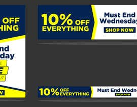 #74 for Design 3 Banners - 10% OFF Everything by owlionz786