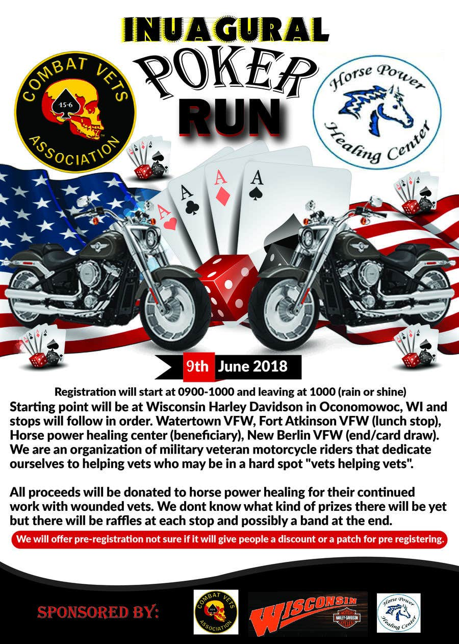 Contest Entry #19 for Inuagural poker run flyer