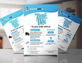 """Nro 25 kilpailuun A5 flyer """"thank you for your order"""" käyttäjältä jabir88"""