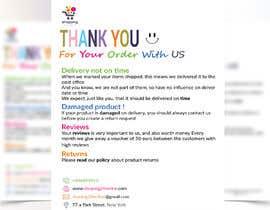 """Nro 23 kilpailuun A5 flyer """"thank you for your order"""" käyttäjältä Shafi77"""