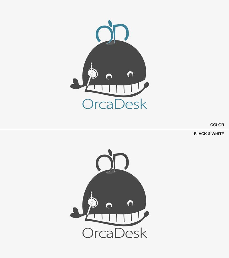 Bài tham dự cuộc thi #                                        73                                      cho                                         Logo Design is required for software company called OrcaDesk. (related to support ticketing systems)