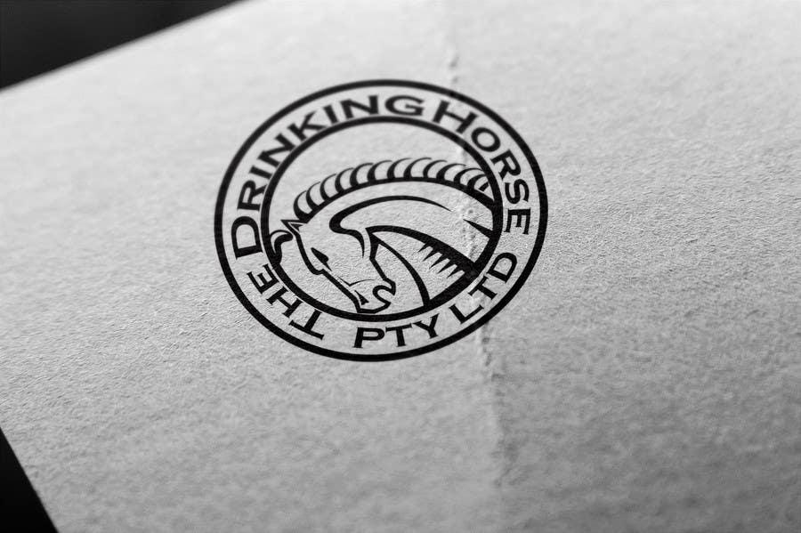 "Penyertaan Peraduan #                                        50                                      untuk                                         Design a Logo for ""THE DRINKING HORSE PTY LTD"""