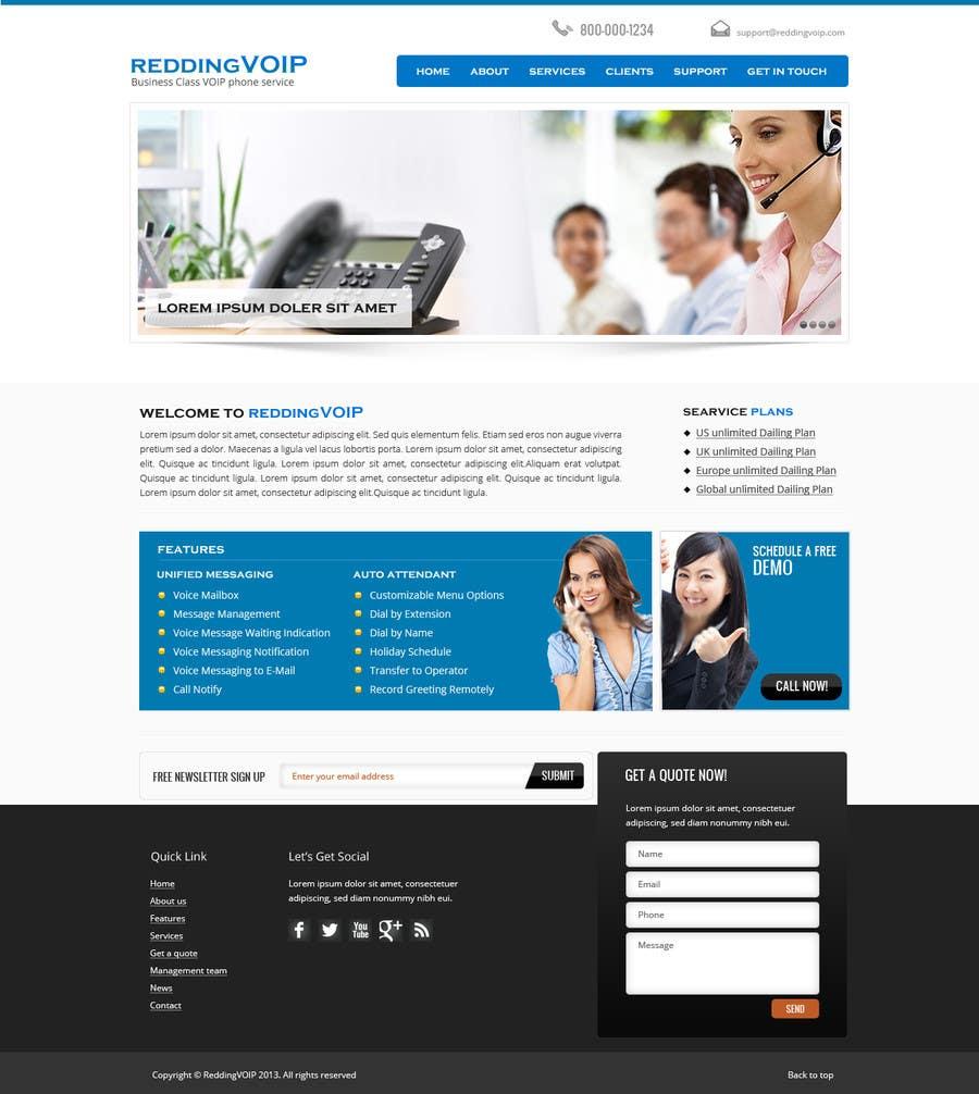 Inscrição nº 4 do Concurso para Graphic Design for Business VOIP Single Page Site