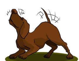 #57 cho Cartoon dog drawing - Vector bởi ToaMota