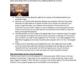 "sumayfn tarafından Write an article titled ""How to Buy A Projector for Church & Worship?"" için no 5"