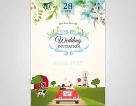 Nro 32 kilpailuun Design wedding invitation for a farm themed wedding käyttäjältä sanjaykart