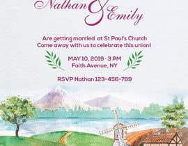 Nro 54 kilpailuun Design wedding invitation for a farm themed wedding käyttäjältä ruzenmhj