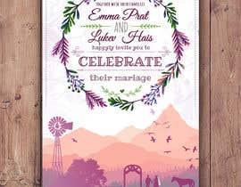 Nro 51 kilpailuun Design wedding invitation for a farm themed wedding käyttäjältä EolLotlan