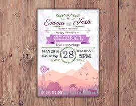 Nro 56 kilpailuun Design wedding invitation for a farm themed wedding käyttäjältä EolLotlan