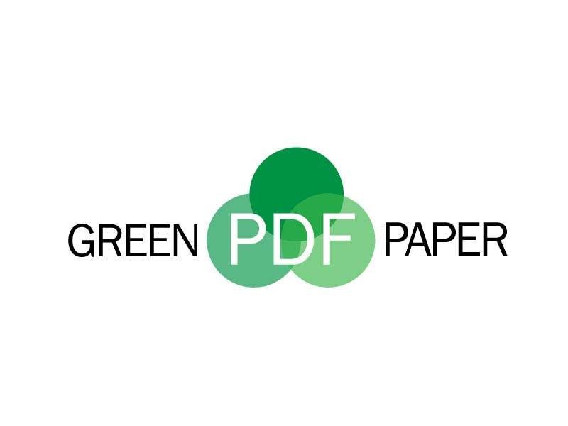 Penyertaan Peraduan #178 untuk Logo Design for Green PDF Paper