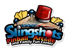 rogeliobello tarafından Logo Design for Slingshots Pinball Arcade and Family Fun Center için no 69