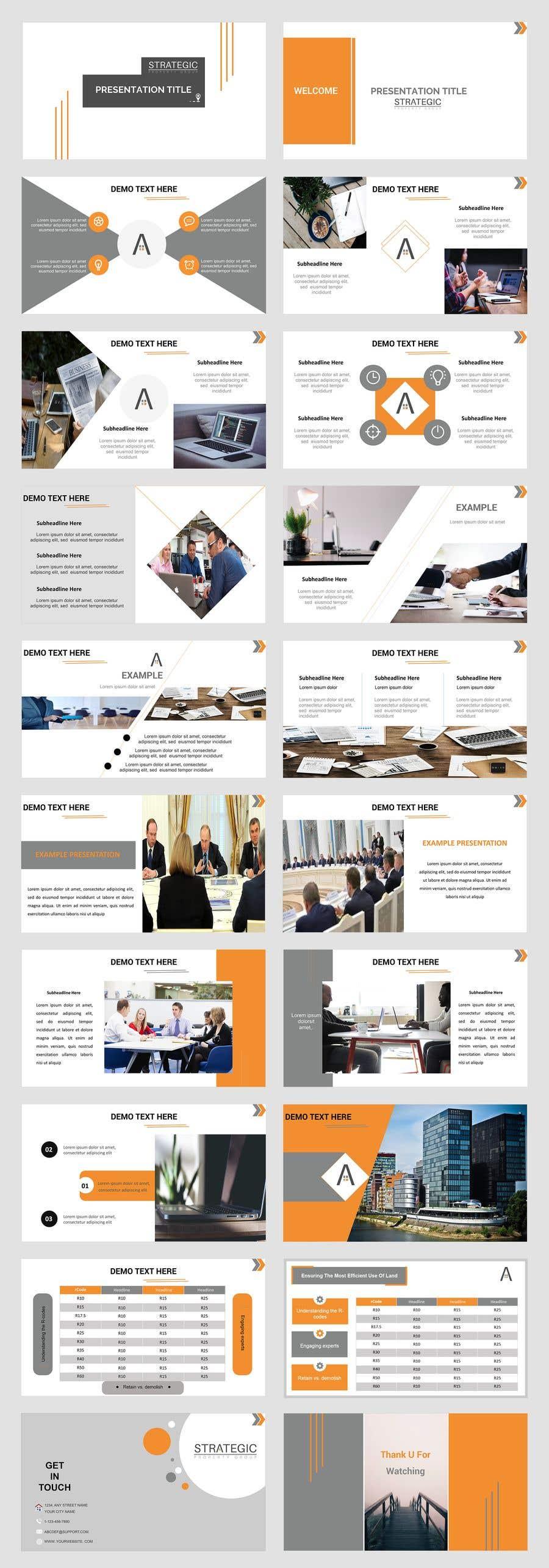 Bài tham dự cuộc thi #11 cho Create a PPT template for my business