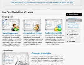 #31 para Website Design for Forex Studio product page por primeminister