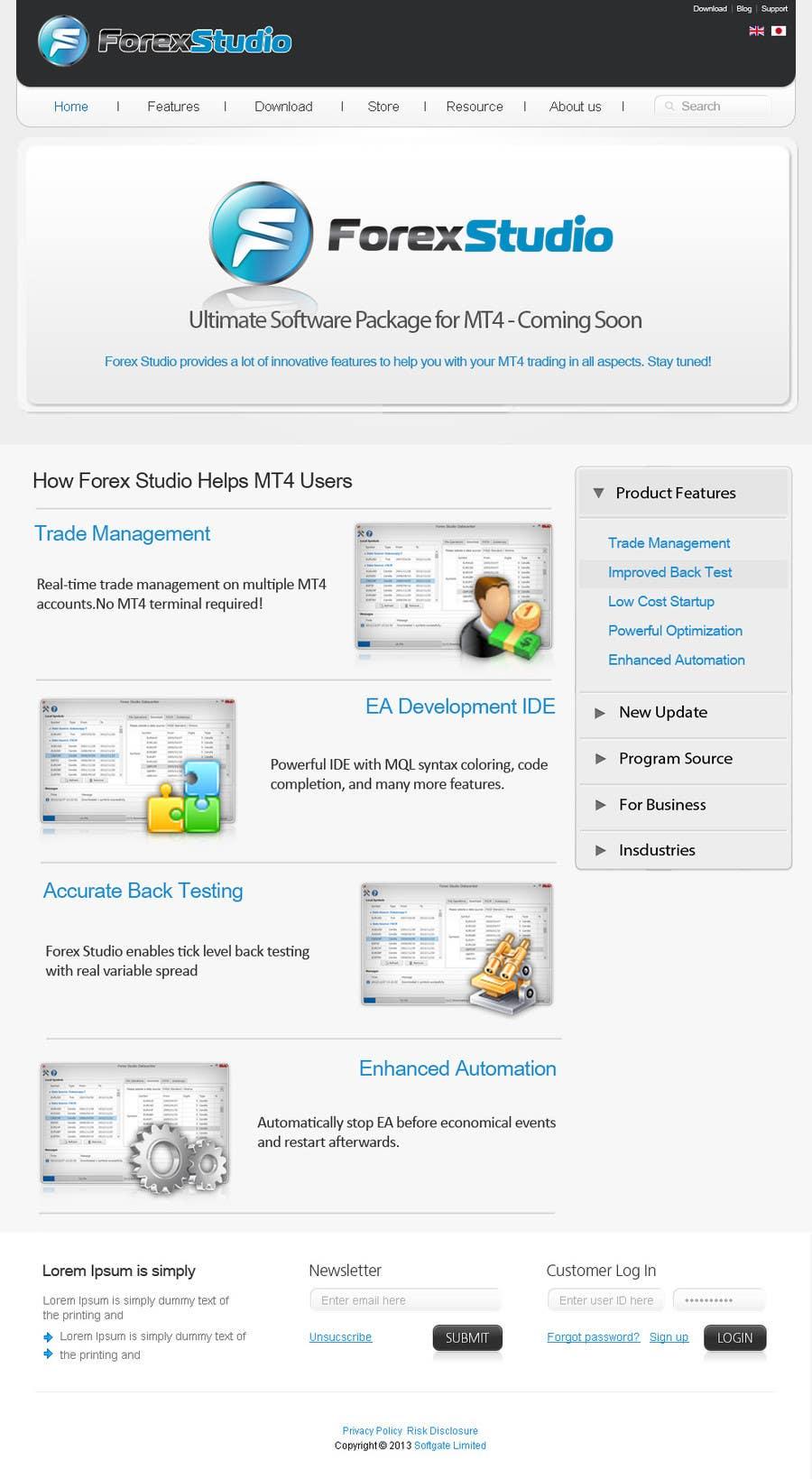 Inscrição nº                                         6                                      do Concurso para                                         Website Design for Forex Studio product page