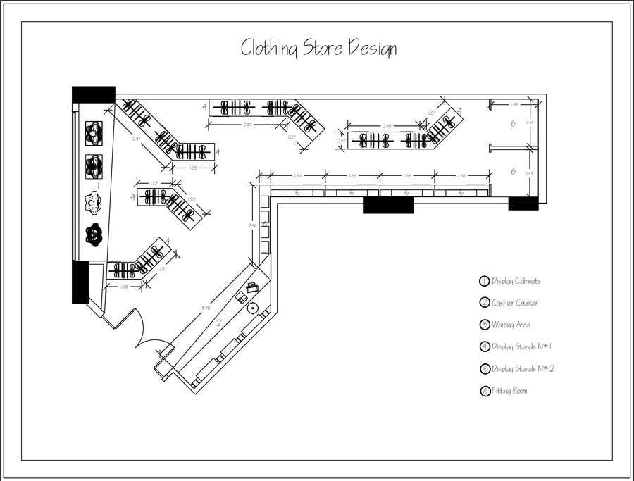 df591721fee3 Contest Entry #6 for Design interior furniture layout for ladies clothes  store