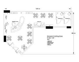 #4 for Design interior furniture layout for ladies clothes store by JoeBMD