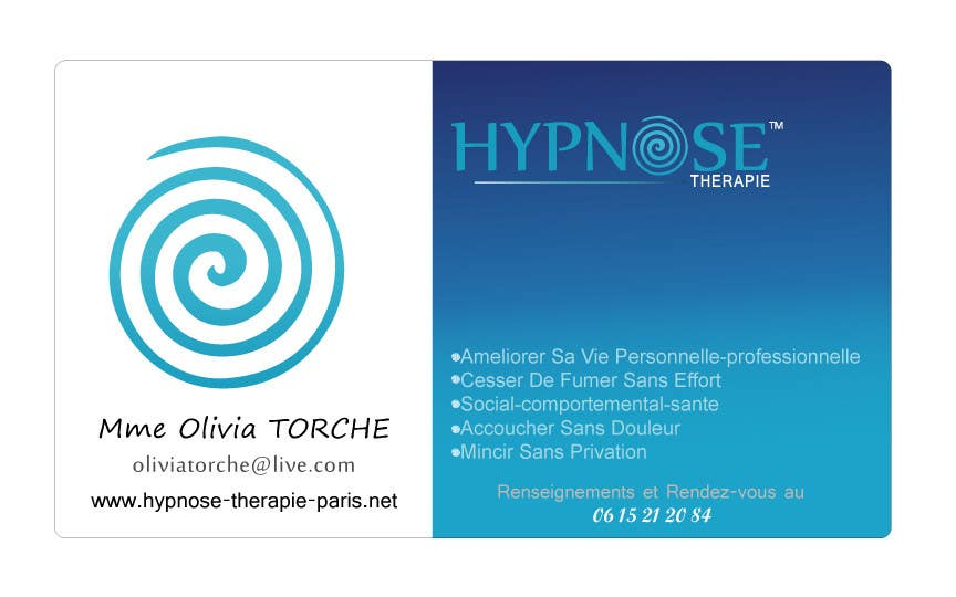 Entry 59 By Sunmarkbd For Business Card Design For Hypnosis