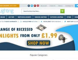 #51 para Design a stunning website banner to promote our range of downlights de aalimp