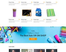 #17 for Mockup landing page for school supplies by yasirmehmood490