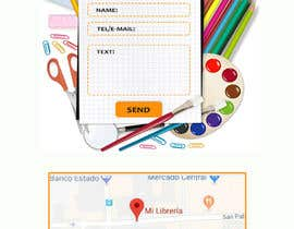 #5 for Mockup landing page for school supplies by NatalyaN
