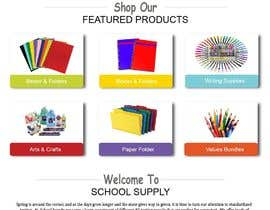 #14 for Mockup landing page for school supplies by FALL3N0005000
