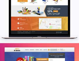 #13 for Mockup landing page for school supplies by davidnalson