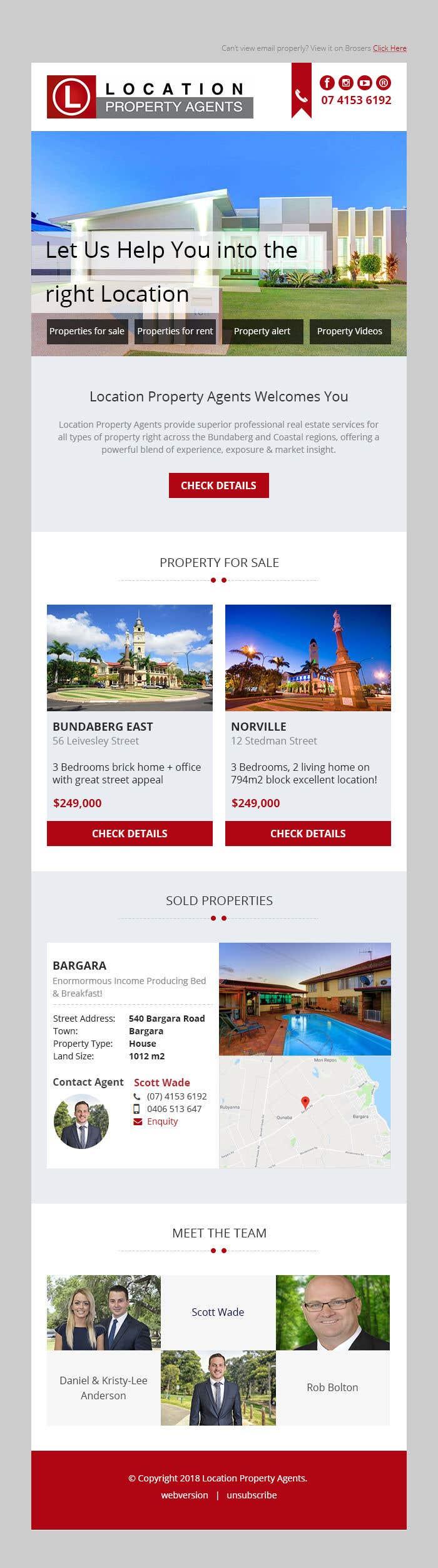 Cool Modern Mailchimp Com Email Template For Real Estate Agent Freelancer
