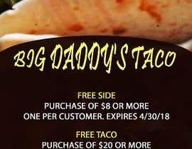 Nro 7 kilpailuun Design a mini Flyer coupon for my restaurant käyttäjältä chrislingo