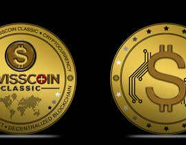 #45 for Design for a modern crypto coin the front and back in 3D. by bibaaboel3enin