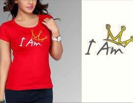 """#100 for I need a logo for a T-shirt that says """"I Am"""". I want a tilted crown on the """"I"""". I need a king and queen crown. by dulhanindi"""