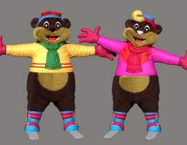#25 for Draw two 3D image of bear mascots by DesireEra