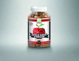 #42 for Design Label (and 3D Renders) for Supplement Bottle by Krcello