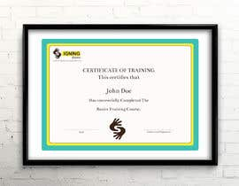 #68 for Certificate of Training by rumon078