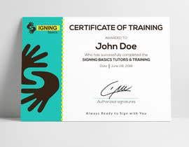 #27 for Certificate of Training by hossainahamed