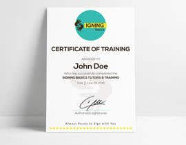 #87 for Certificate of Training by hossainahamed