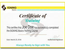 #73 for Certificate of Training by aminur955955